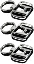 Indiashopers Honda Metallic Key Ring (Pack Of 3) Key Chain - Silver