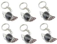 Ezone Cooper Car,Bike,Bag Locking Spring Gate_Pack Of 6 Key Chain (Black)