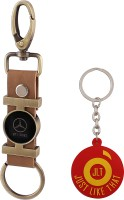 JLT Premium Long Mercedes Car Logo Locking Key Chain (Multicolor)
