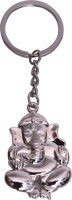 Confident MVP212 Metal Ganesha Silver Color Key Chain (Silver)