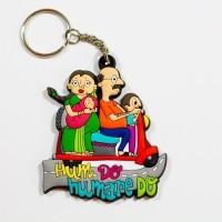 Chumbak Hum Do Hamare Do Key Chain Multicolor