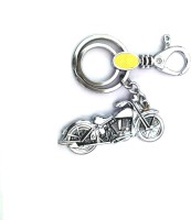 Ezone Imported Metal Bullet Bike Locking Key Chain (Silver)