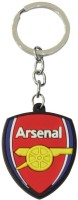Arsenal Football Club Rubber Keychain Curved Gate Carabiner (Black, Red)