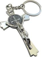 Techpro CROSS Jesus Christ Key Chain (Silver Metal Color)