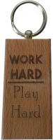 Cult Classics Work Hard Play Hard Keychain (Brown)