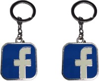Singh Xpress Key Chain- Metal Facebook(Pack Of 2) Key Chain (Chrome)