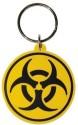 Bombay Merch Biohazard Rubber Key Chain - Multicolor