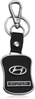Oyedeal Hyundai Faux Leather Metal HY02 Locking Key Chain (Black)