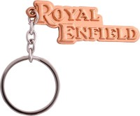 Zeroza Royal Enfield Metal RE55 Key Chain (Gold)