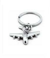 MO Aeroplane Full Metal Keychain Bent Gate, Curved Gate Key Chain (Silver)