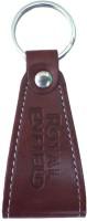 BikeNwear RE-7 Royal Enfield Locking Key Chain (Brown)