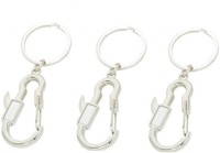 Ezone Hook Pack Of 3 Locking Key Chain (Silver)