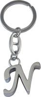 Confident High Quality Alphabet Metal N Keychain (Silver)