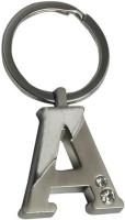 True Traders True Traders Silver Metal Alphabet A Keychain Key Chain (silver)