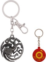 JLT Game Of Thrones Silver Metal Premium Locking Key Chain (Multicolor)