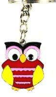 Chooz Designer Studio Cute Colorful Metal Owl Shaped Latest & Fashionable Metal Key Chain (Multicolour)