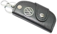 Aura Volkswagen Cars Leather Key Chain (Black, Silver)