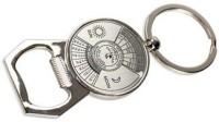 Chainz Classic Calendar Bottle Opener Bent Gate Keychain (Silver)