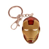 JLT Full Metal Ironman Face2 Locking Key Chain (Red, Silver)