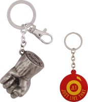 JLT Hulk Hand Silver Metal Premium Locking Key Chain (Multicolor)