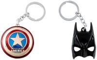 Chainz Captain America Shield And Metal Batman Mask 3d (Multicolor)