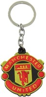 Manchester United Football Club Rubber Keychain Curved Gate Carabiner (Red, Yellow)