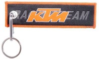 Confident Ktm Racing Line Keychain (Cloth, Silver)
