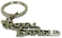 Navkaaar Royal Enfield Metal Keychain (Silver)