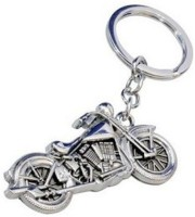 AURA Imported Racing Bike Full Metal Key Chain (Silver)