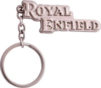 Zeroza Royal Enfield Metal RE56 Key Chain (Silver)