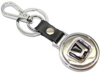 Aura Honda Cars Metal Revolving Logo Key Chain (Black, Silver)