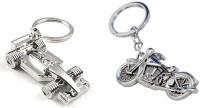 Chainz Metal Chopper Bike And 3d Formula 1 Car (Silver)