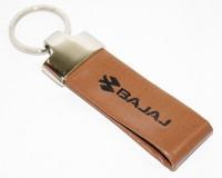 Aura Bajaj Bike Faux Leather Locking Keychain (Brown)
