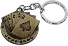 Aura Imported Playing Cards Metal Keychain
