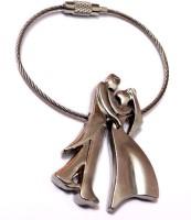 Aditya Traders Wire Couple True Love Metal Keychain Key Chain (Silver)