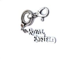 Ezone High Quailty Full Metalic Royal Enfield Locking Key Chain (Silver)