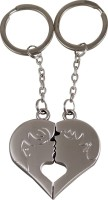 Forty Creek Couple With Heart Key Chain (Silver)