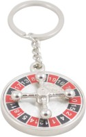 Confident Number Game Metal Plate Key Chain (Multicolor)