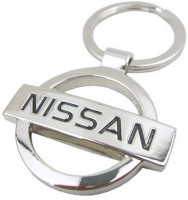 Confident 1 Nissan Car Logo Silver141 Metal Key Chain (Silver)