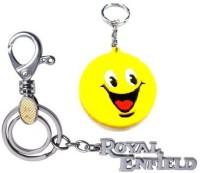 Ezone Metal Locking Royal Enfield With Smiley Locking Carabiner (multicolor)