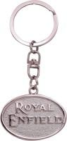 Oyedeal KYCN909 Royal Enfield Full Metal Key Chain (Silver)