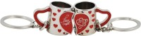 Seasons Mug Couple 2pcs Key Chain (Silver, Red)