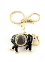 S2S Elephant Gold Black Fashion Key Chain Locking (Gold & Black)