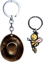 Oyedeal Hat Full Metal Bent Gate Key Chain (Multicolor)