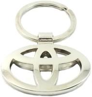 Rudham Toyota Logo Metal Car Ring Keychain (Silver)