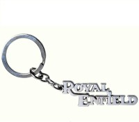 Indiashopers Royal Enfield Full Metal Keychain (Silver)