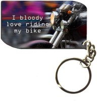 Exciting Lives Love Riding My Bike Key Chain (Multicolor)