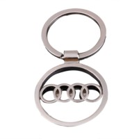 Ezone Audi Key Chain Full Metallic Key Chain - Car And Bike Stylish Keychain Key Chain (Silver)