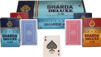 SHARDA DELUXE NO 55 EXCLUSIVE PLAYING CARDS - PACK OF 12 (RED/BLUE)