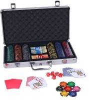 Casinoite Monte Carlo Dark Millions Clay Pro Poker Chip Set 300 Toy (Multi-color)